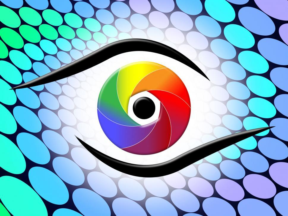 Download Free Stock HD Photo of Aperture Spectrum Shows Colour Splash And Colorful Online