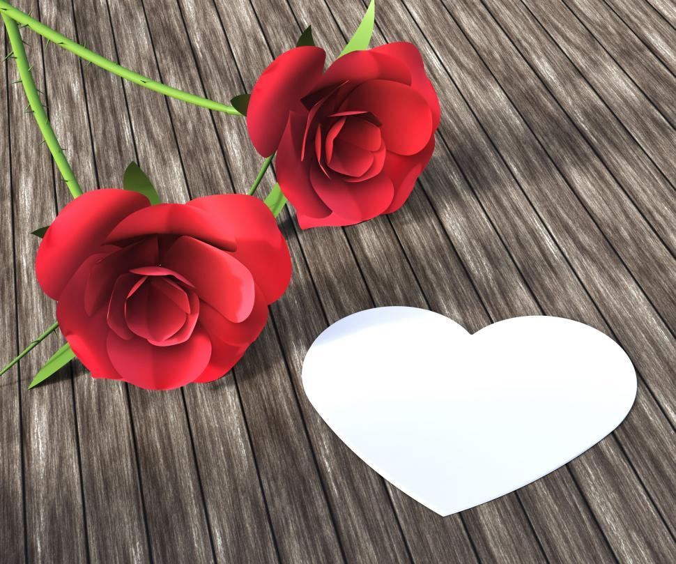 Get Free Stock Photos Of Heart Roses Indicates Valentine Day