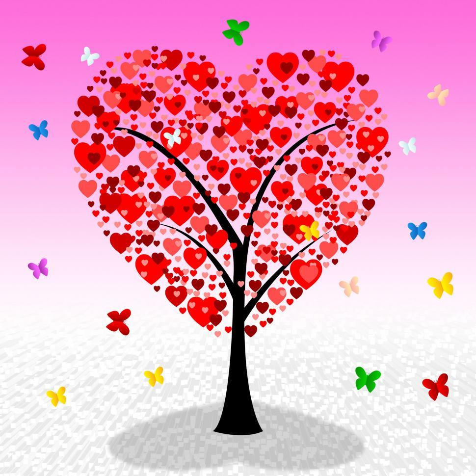 Download Free Stock HD Photo of Tree Hearts Indicates Valentine s Day And Affection Online