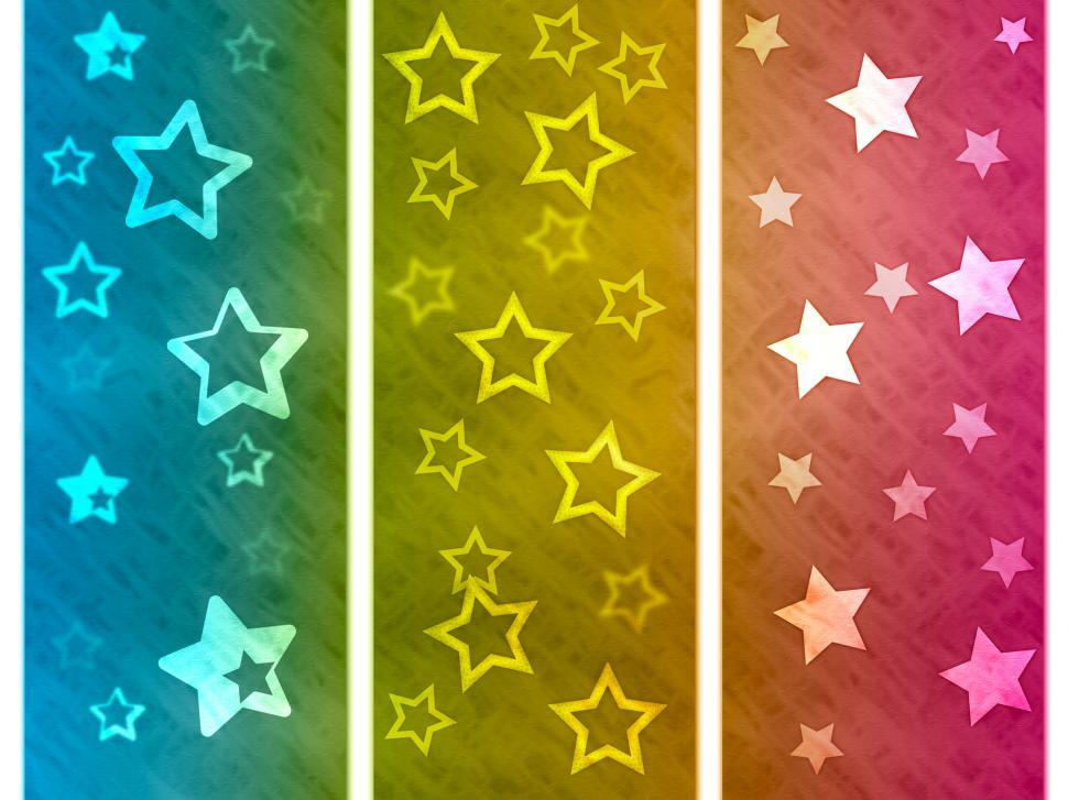 Download Free Stock HD Photo of Color Background Shows Star Colourful And Spectrum Online