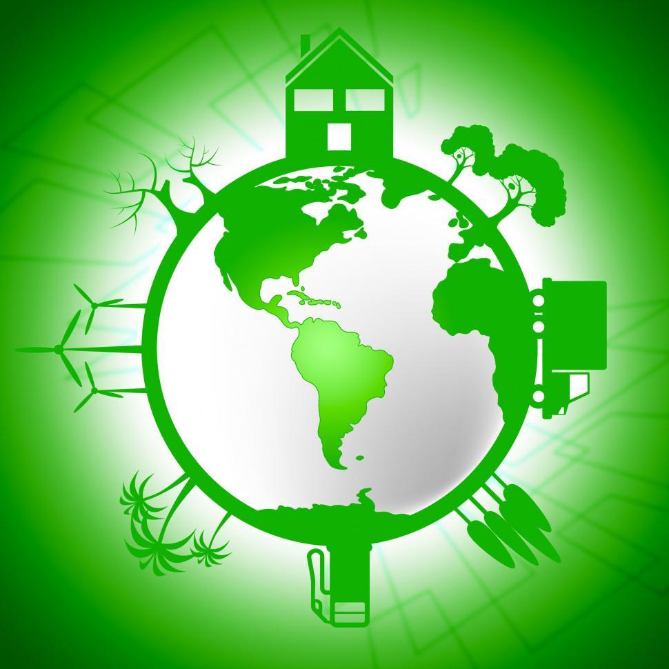 Download Free Stock HD Photo of Global World Means Earth Day And Eco Online