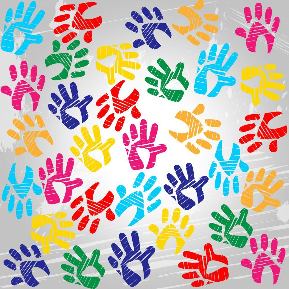 Download Free Stock HD Photo of Handprints Colourful Means Drawing Colors And Painted Online