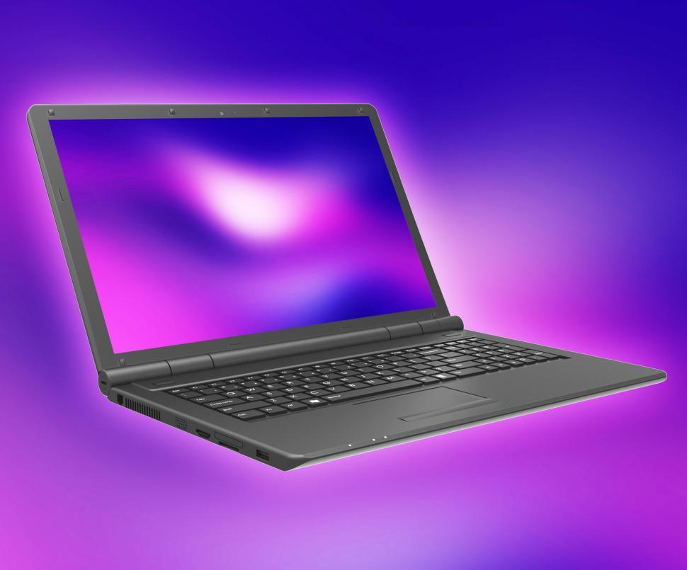 Download Free Stock HD Photo of Laptop Technology Shows Internet Computer And Notebook Online