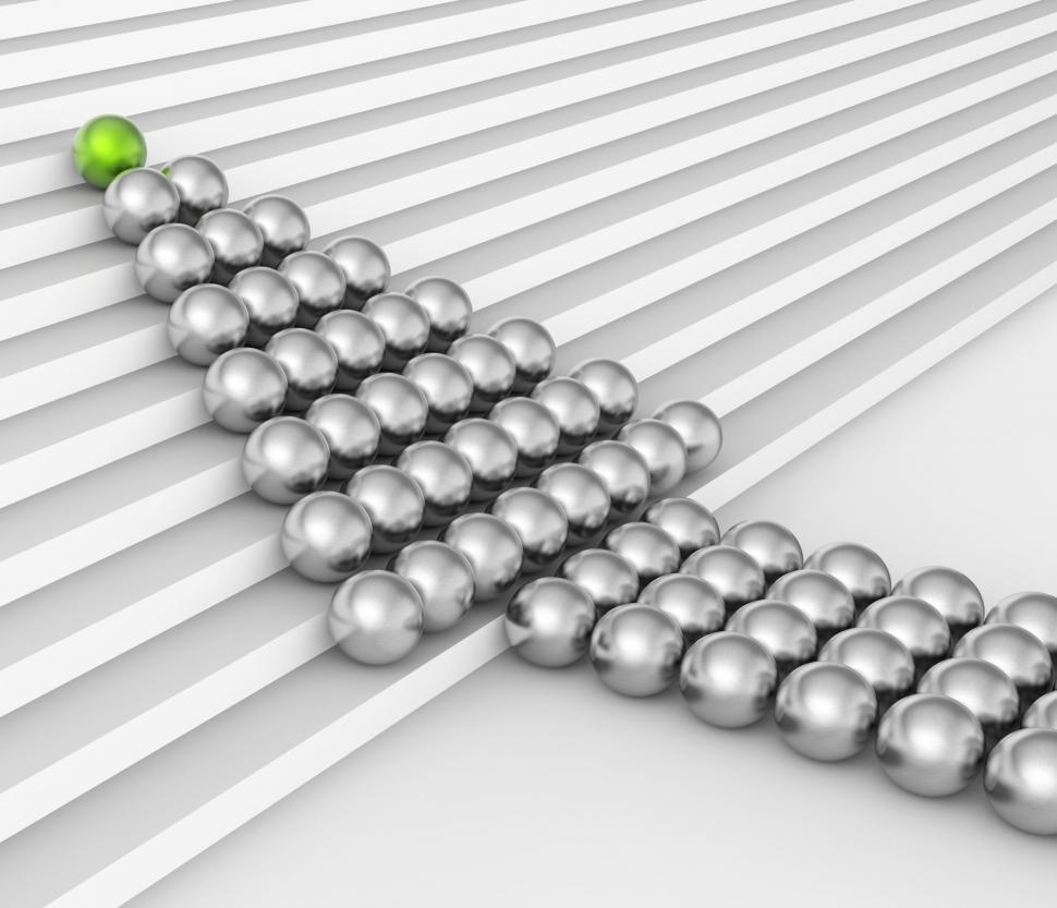 Download Free Stock HD Photo of Spheres Teamwork Shows Leadership Bubble And Authority Online