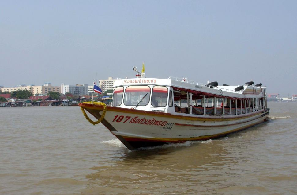 Download Free Stock HD Photo of Chao Phraya River Express Boat Online