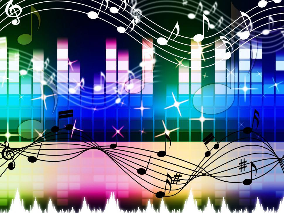Download Free Stock HD Photo of Rainbow Music Background Means Pop Rock Or Rap  Online