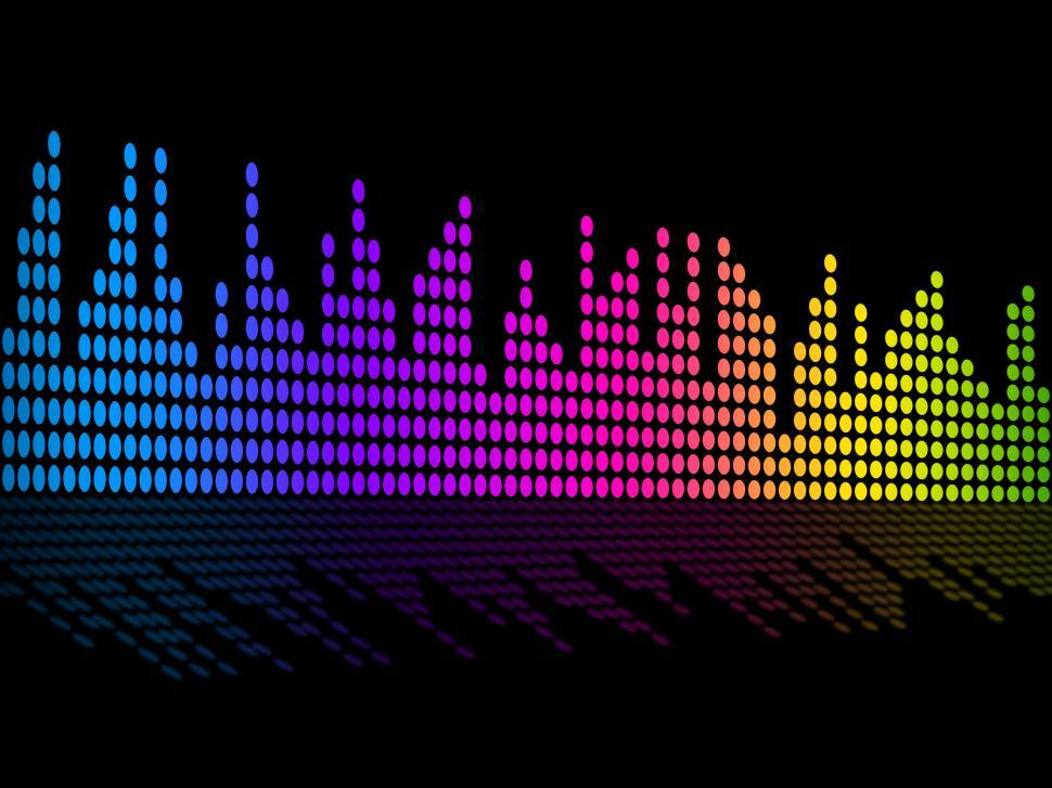 Get Free Stock Photos of Digital Music Beats Background Shows Music