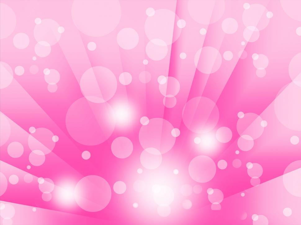 Download Free Stock HD Photo of Pink Bubbles Background Means Shining Circles And Rays Online
