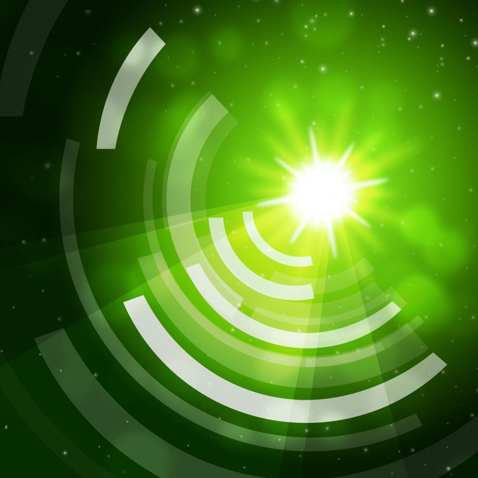 Download Free Stock HD Photo of Green Sun Background Means Giving Offf Frequencies  Online