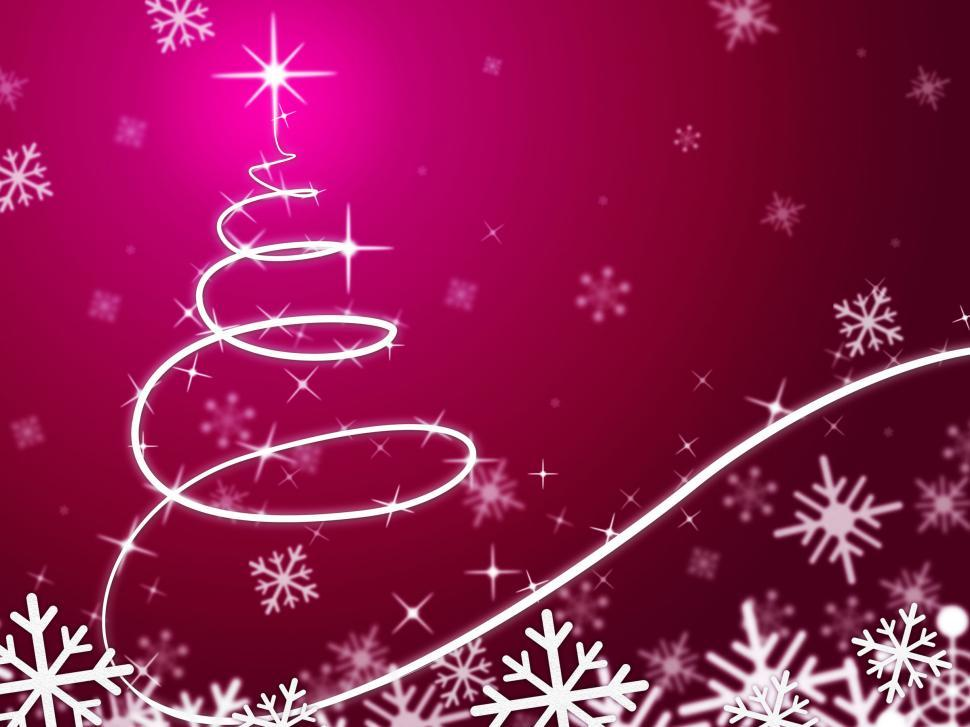 Download Free Stock HD Photo Of Pink Christmas Tree Background Means Snowing And Freezing Online