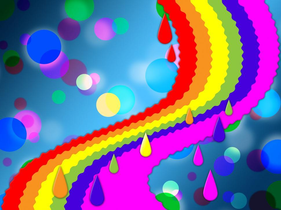 Download Free Stock HD Photo of Rainbow Spots Background Means Painted And Dotted   Online