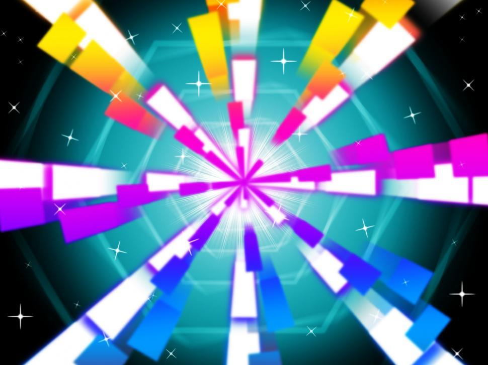 Download Free Stock HD Photo of Colorful Beams Background Shows Hexagons And Night Sky  Online