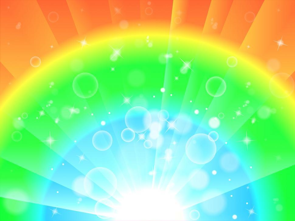 Download Free Stock HD Photo of Bright Colourful Background Means Glowing Rainbow Or Twinkling W Online