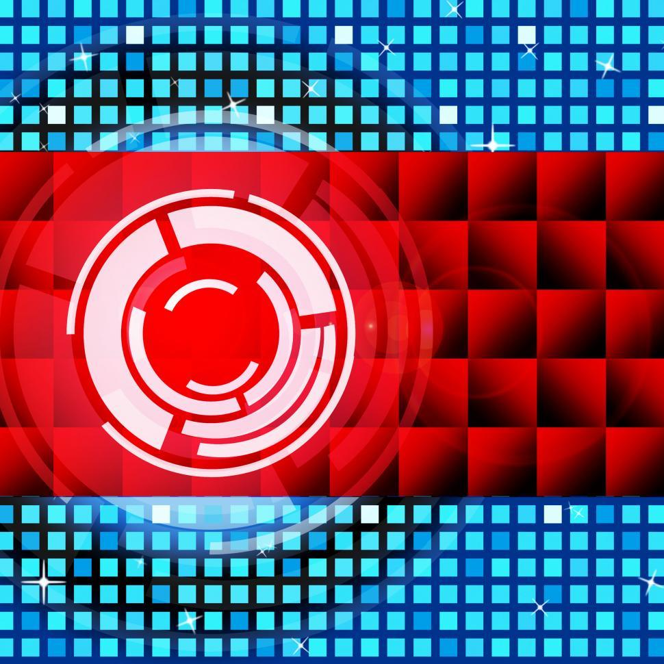 Download Free Stock HD Photo of Red Circles Background Means Record And LP Discs  Online