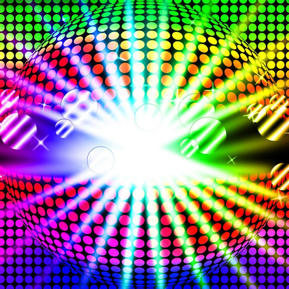 Download Free Stock HD Photo of Disco Ball Background Means Bright Beams And Dancing  Online