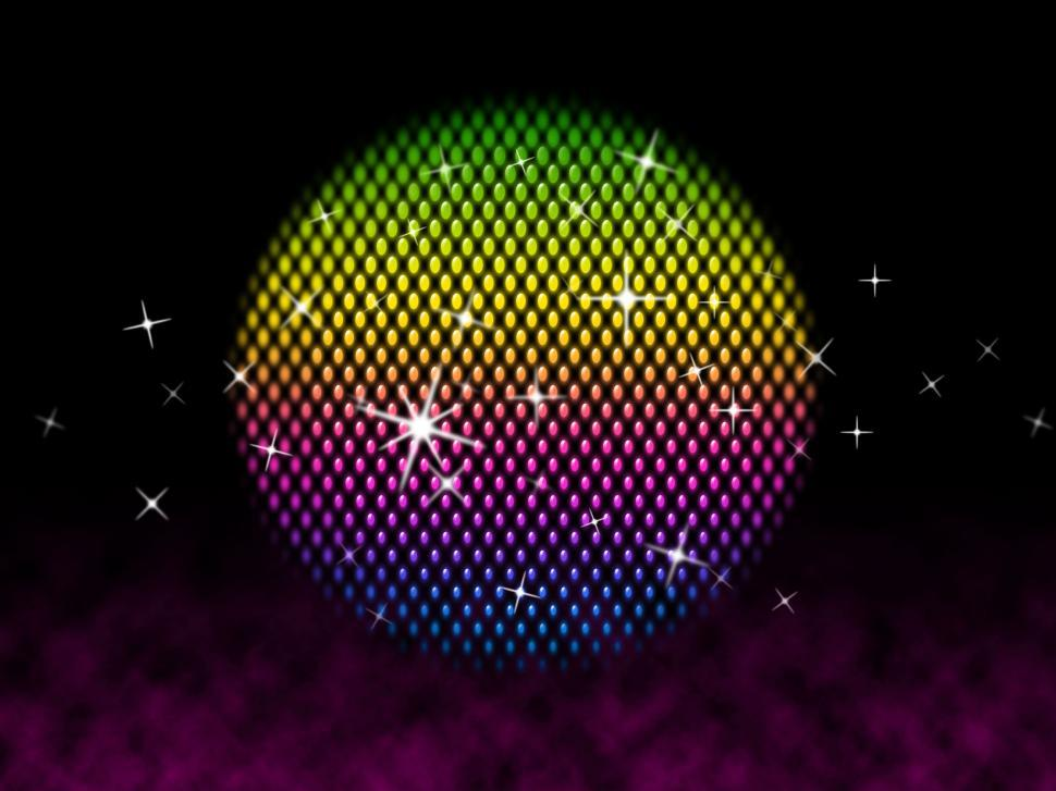 Download Free Stock HD Photo of Colorful Ball Shows Colors Party And Shining  Online