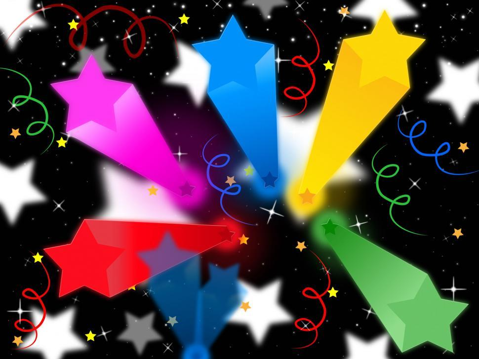 Download Free Stock HD Photo of Stars Streamers Background Means Celestial Colors And Party  Online