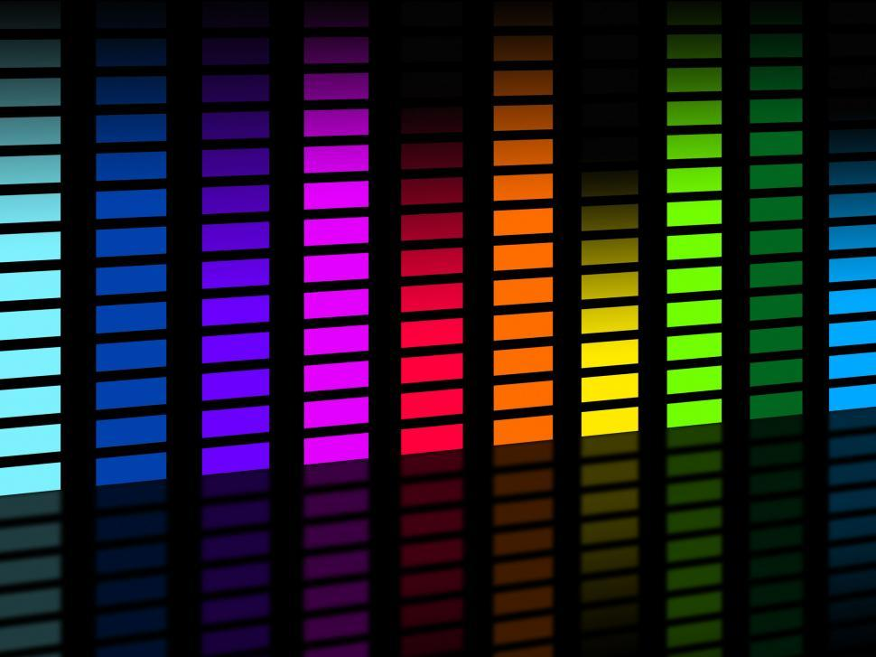 Download Free Stock HD Photo of Colorful Soundwaves Background Means Frequencies Music And Party Online