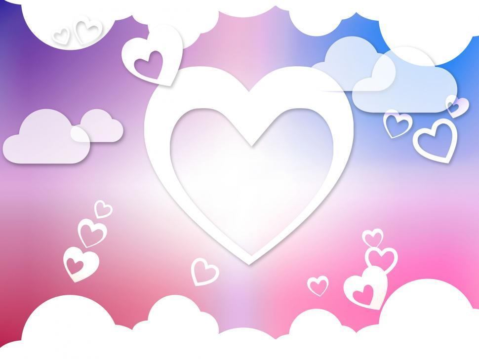 Download Free Stock HD Photo of Hearts And Clouds Background Means Romantic Dreams And Feelings  Online