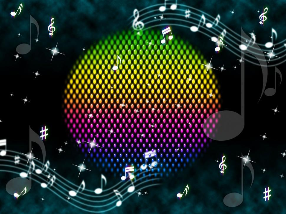 Download Free Stock HD Photo of Music Ball Background Means Rainbow And Singers   Online