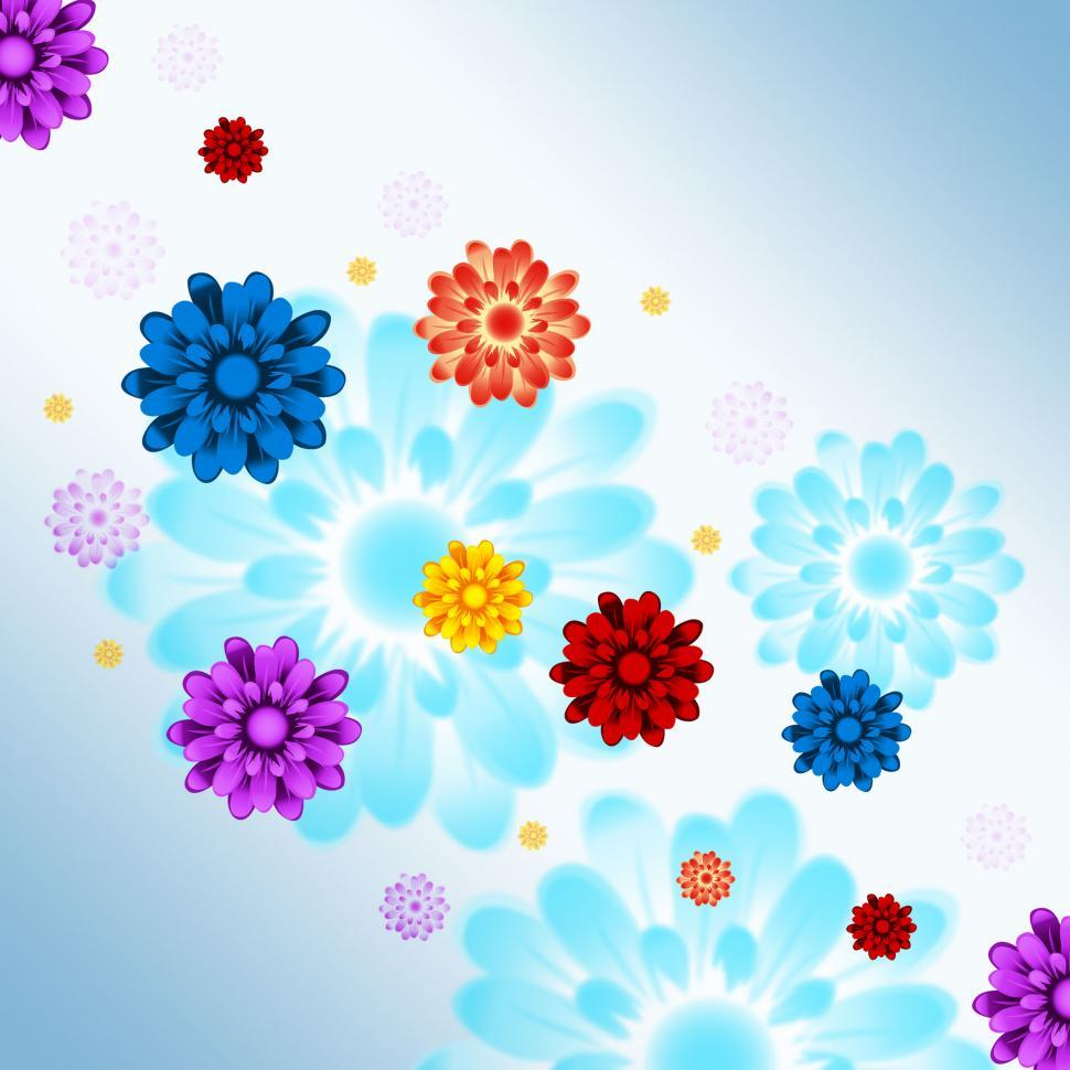 Download Free Stock HD Photo of Colorful Flowers Background Shows Flowery And Growth  Online
