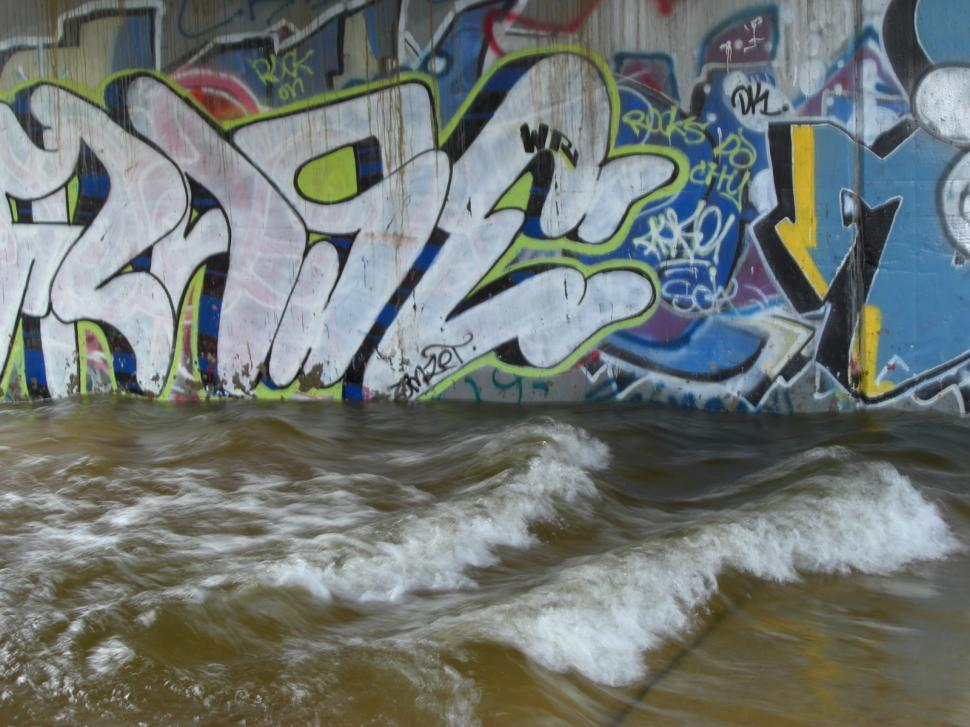 Download Free Stock HD Photo of Graffiti Under a Bridge Online