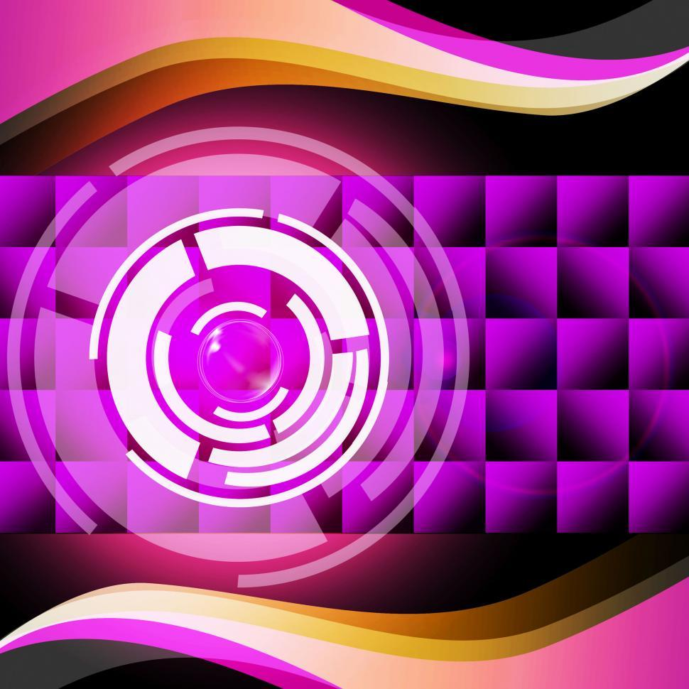 Download Free Stock HD Photo of Purple Circles Background Shows Record Player And Music  Online