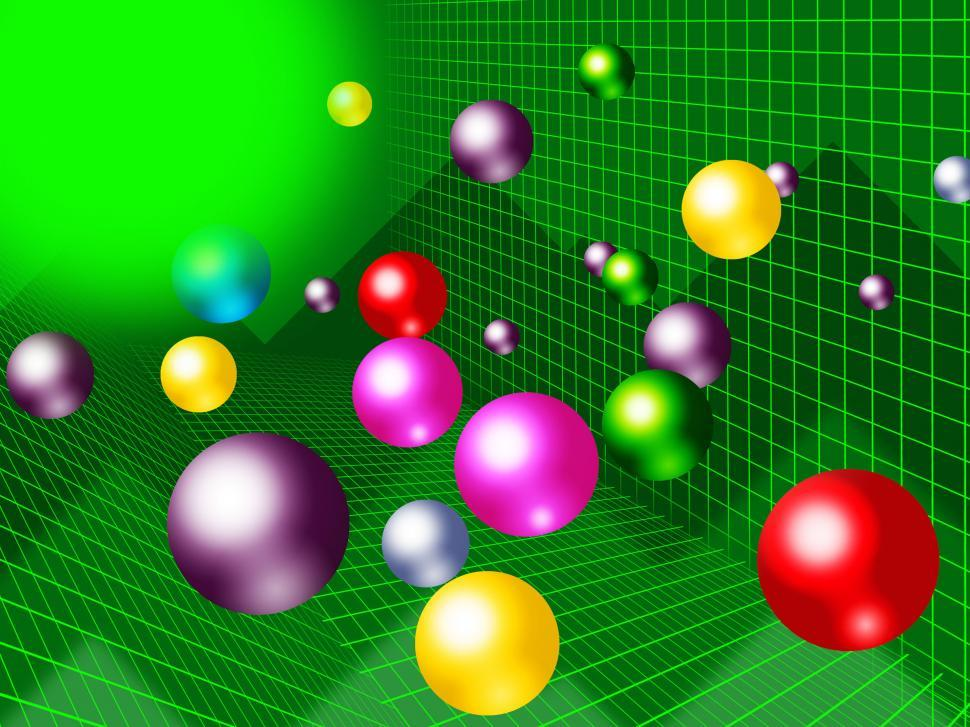 Download Free Stock HD Photo of Green Balls Background Shows Brightness Colorful And Graph  Online