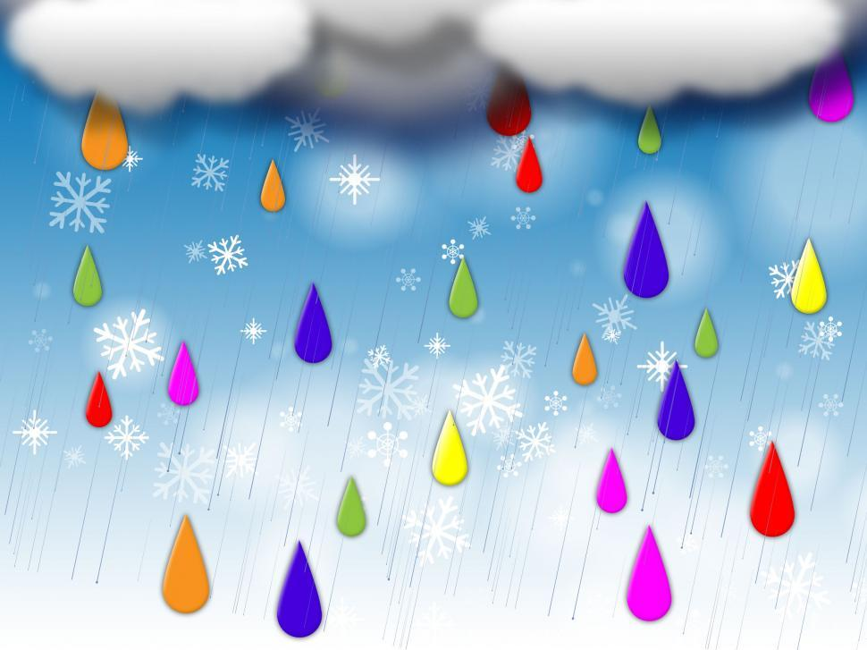 Download Free Stock HD Photo of Rainbow Drops Background Means Colorful Dripping And Clouds  Online