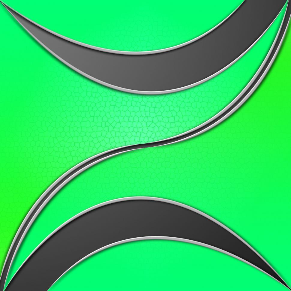 Download Free Stock HD Photo of Green Leaves Background Shows Curvy Shapes And Stem  Online