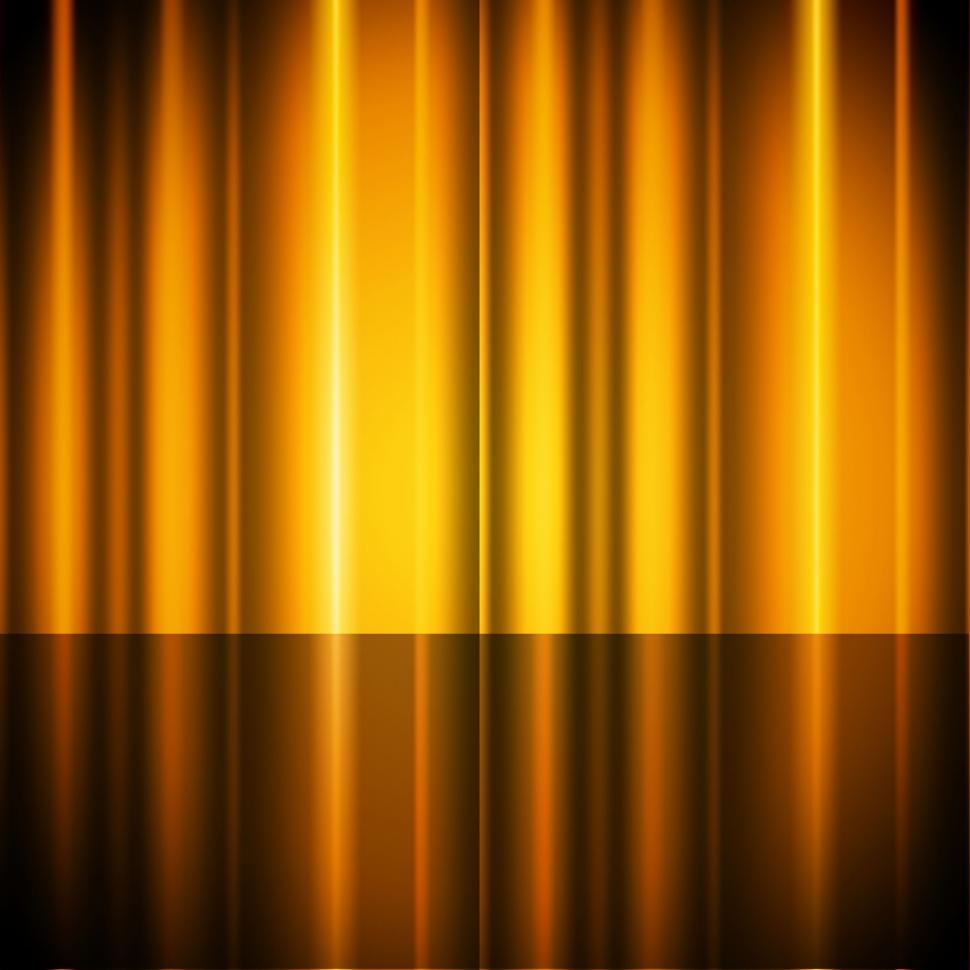 Yellow Curtains Background Showing Stage And Acting