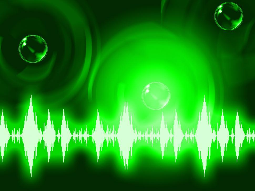 Download Free Stock HD Photo of Sound Wave Background Shows Glowing Background Or Equalizer Wall Online