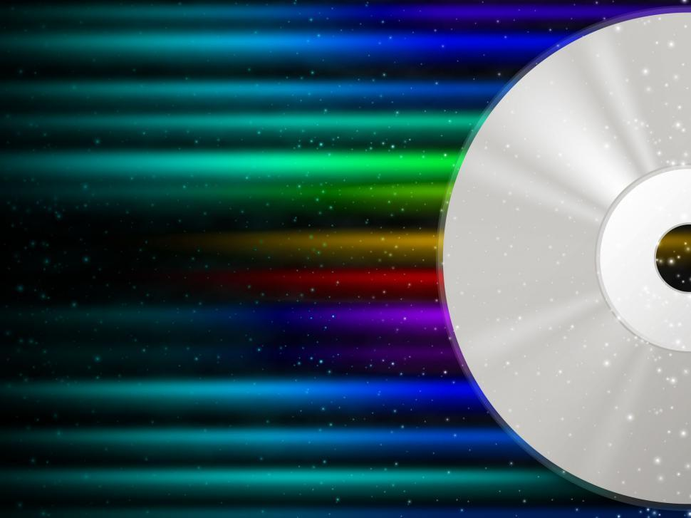 Rainbow Music Background Meaning Colorful Lines And Melody: Get Free Stock Photos Of CD Background Means Rainbow Beams