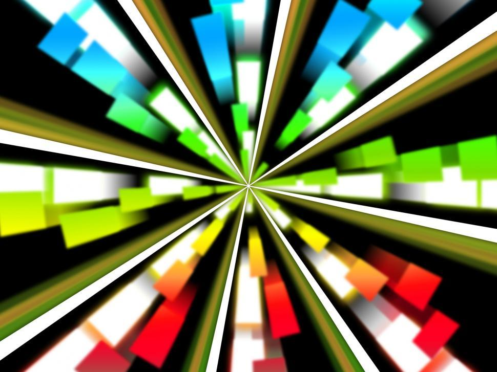 Download Free Stock HD Photo of Wheel Background Shows Multicolored Rectangles And Spinning  Online