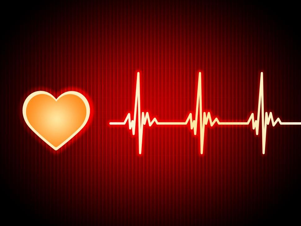 Download Free Stock HD Photo of Red Heart Background Shows Pumping Blood And Alive  Online