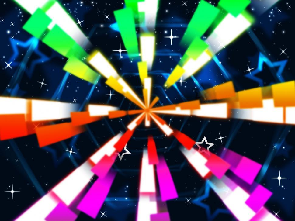 Download Free Stock HD Photo of Colorful Beams Background Means Stars And Hexagonal  Online