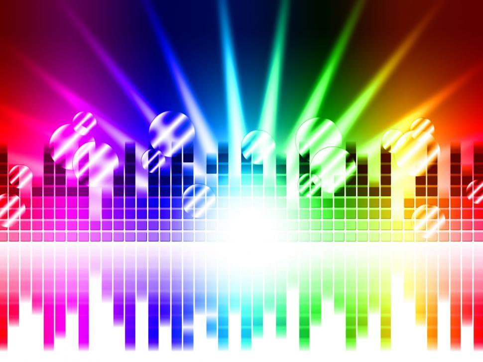Download Free Stock HD Photo of Bright Colors Background Means Rays Frequencies And Balls  Online