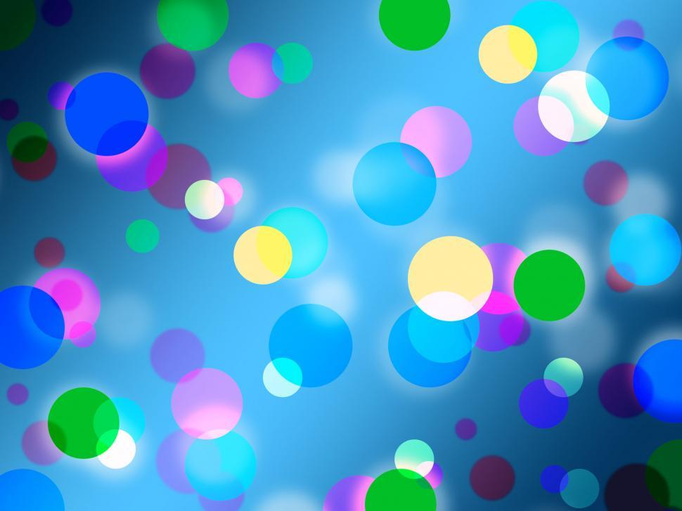 Download Free Stock HD Photo of Blue Spots Background Shows Bright Circles Pattern  Online