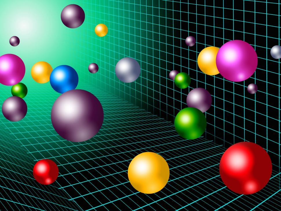 Download Free Stock HD Photo of Colorful Balls Background Shows Rainbow Circles And Grid  Online