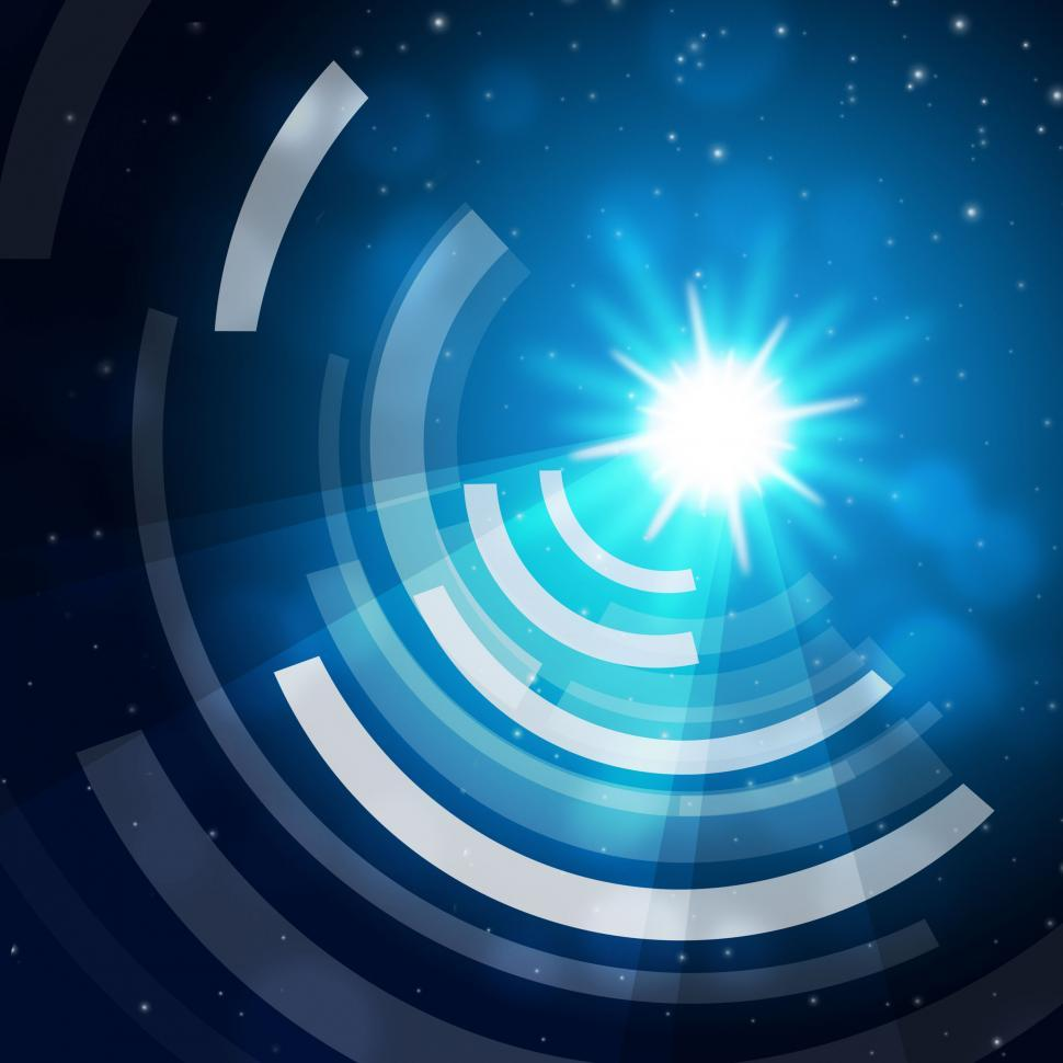 Download Free Stock HD Photo of Blue Sun Background Means Glowing And Radiating Waves  Online