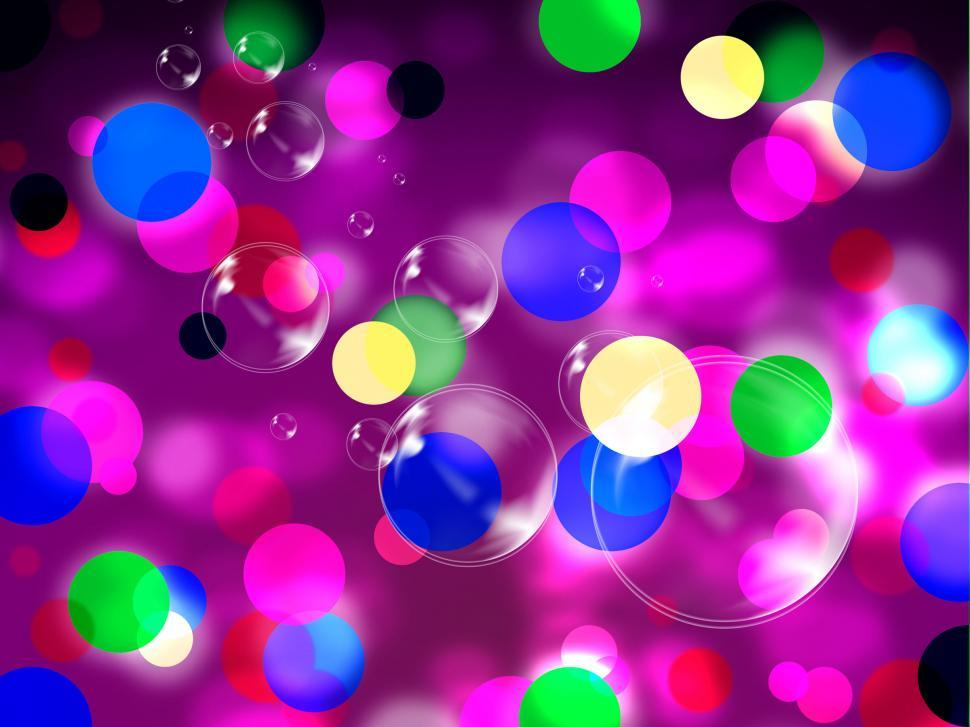 Download Free Stock HD Photo of Purple Spots Background Shows Spotted Decoration And Bubbles  Online
