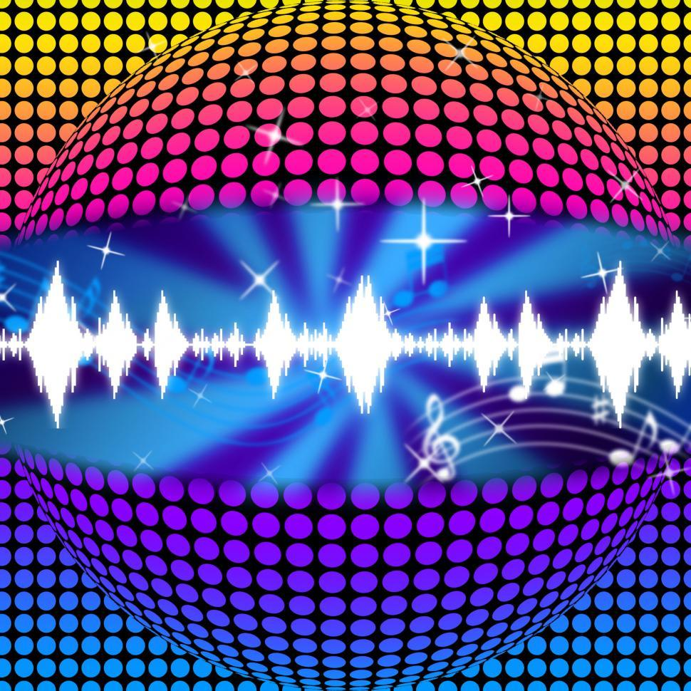 Download Free Stock HD Photo of Music Disco Ball Background Means Soundwaves And Partying  Online