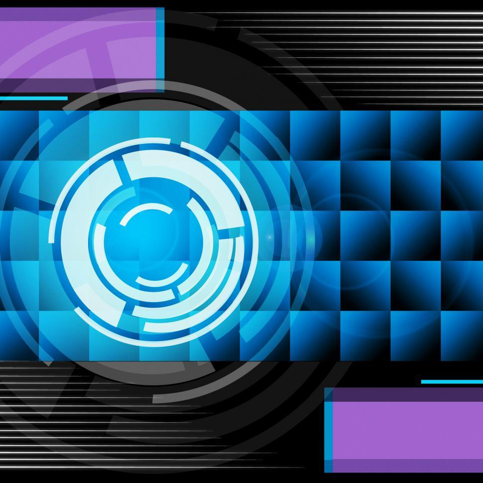 Download Free Stock HD Photo of Blue Circles Background Means Record Player And Songs  Online