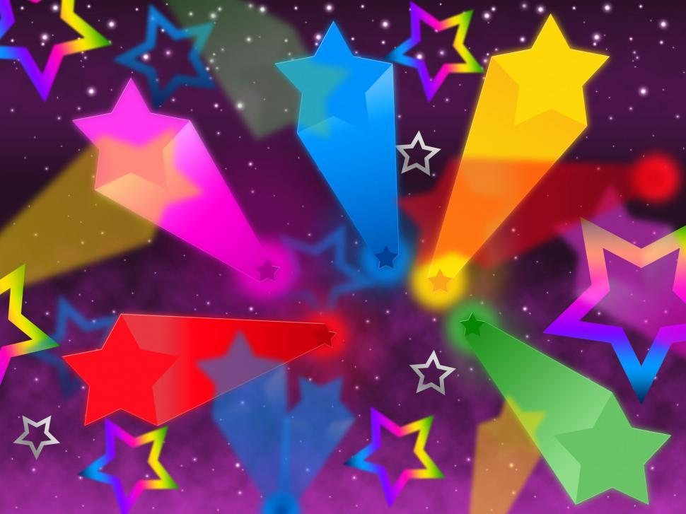 Download Free Stock HD Photo of Colorful Stars Background Means Rainbow Space And Bright  Online