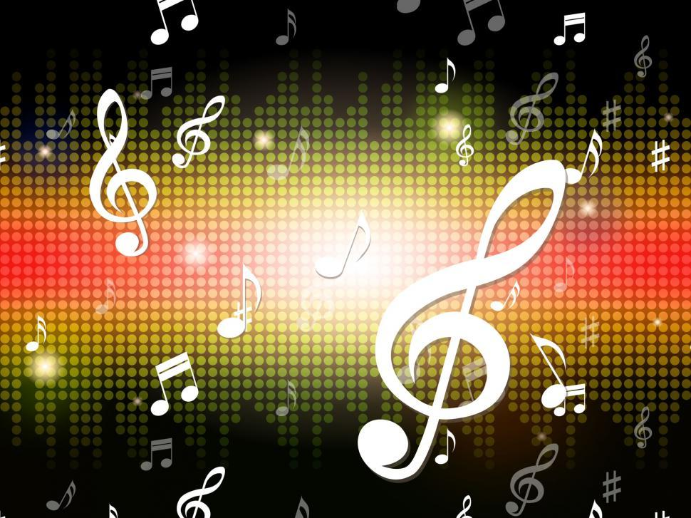 Download Free Stock HD Photo of Music Background Shows Musical Notes And Sounds  Online