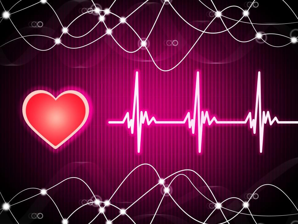 Download Free Stock HD Photo of Purple Heart Background Means Heart Rate Fitness And Double Heli Online