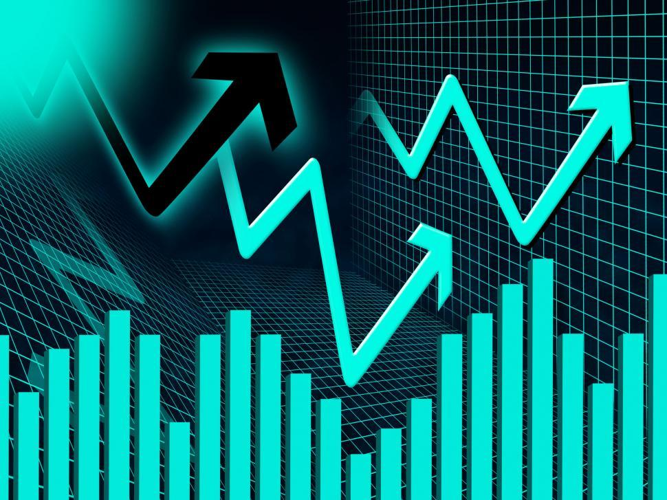 Download Free Stock HD Photo of Blue Arrows Background Means Up Increase And Graph  Online