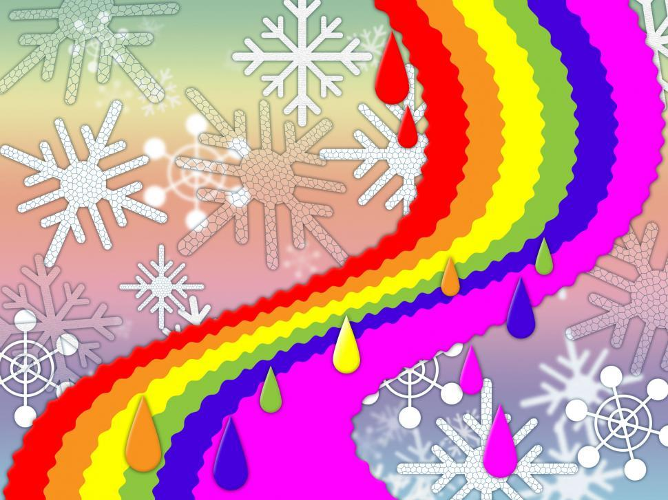 Download Free Stock HD Photo of Rainbow Background Means Snowing Winter And Promise  Online