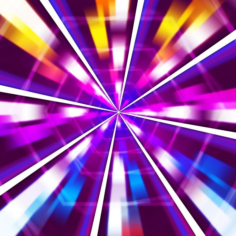 Download Free Stock HD Photo of Purple Rays Background Means Sharp Beams And Hexagons  Online