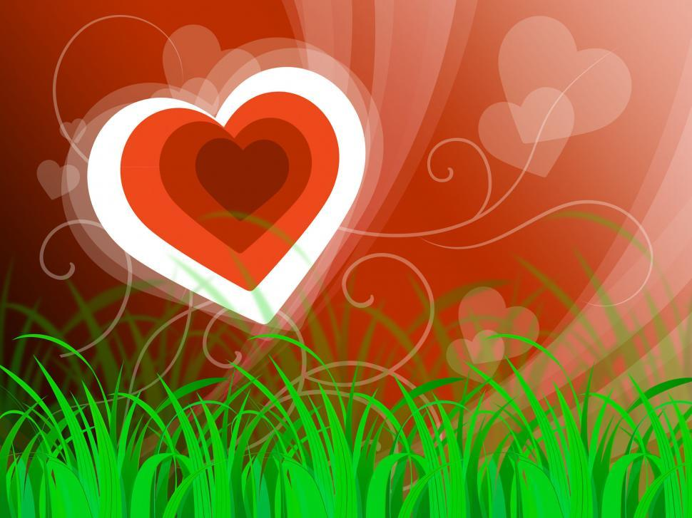Download Free Stock HD Photo of Hearts Background Means Beautiful Landscape Or Loving Nature  Online